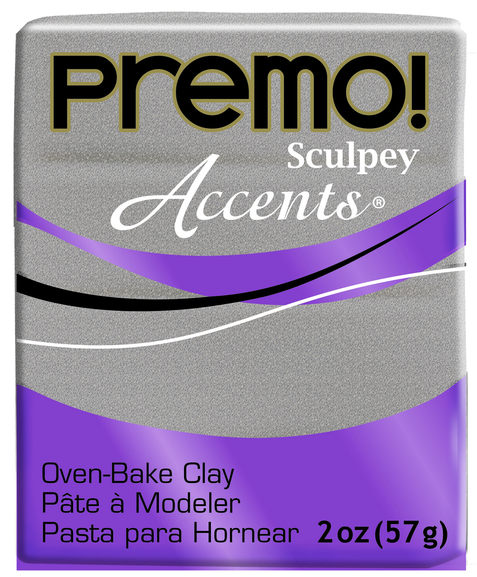 premo! Sculpey -- White Gold Glitter -- 2 oz