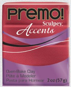 premo! Sculpey -- Red Glitter -- 2 oz