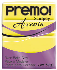 premo! Sculpey -- Yellow Translucent -- 2 oz