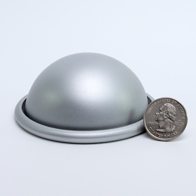 """Aluminum Hemisphere 2-3/4"""" diameter"""