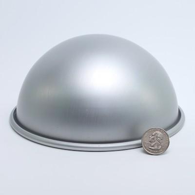 """Aluminum Hemisphere 6-1/4"""" diameter"""