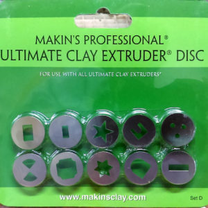 Makins Professional Ultimate Clay Extruder Discs - Set D
